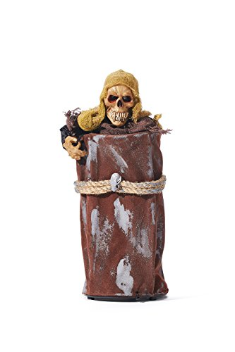 Affordable Halloween Decorations (Grim Reaper Death In The Box Boxed Prop Decoration Creepy Horror Halloween Party (Brown, Beige))