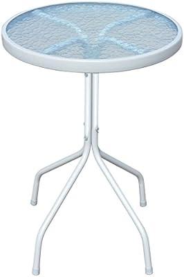 vidaXL extérieur Table Ronde en Acier 50 x 71 cm Gris ...