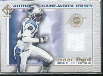 2002 Private Stock Game Jerseys #20 Isaac Byrd Serial #'d/112* Game-Worn Jersey Card