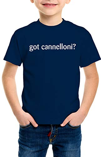 - shirtloco Boys Got Cannelloni Youth T-Shirt, Navy Blue Small