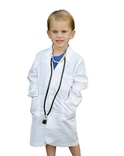 (Doctor's Jr. Kids Lab Coat - with Toy Stethoscope (6/8) Off)