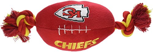 """Pets First NFL Kansas City Chiefs Pet Football Rope Toy, 6"""" Long"""
