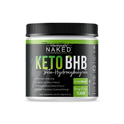Keto BHB Salts Caffeine Free – Promotes Fat Burn - Energy, Pre Workout, Mental Clarity – Beta Hydroxybutyrate Exogenous Ketones Supplement - Formulated for Easy Ketosis – Orange Mango, 16 Servin