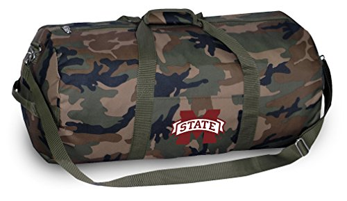 Bulldogs Mississippi Gym Bag State (MSU Bulldogs CAMO Duffle Bag Mississippi State University Duffel Suitcase Luggage)