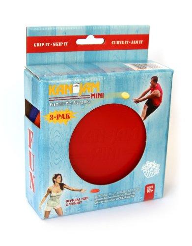 Kan Jam Mini Disc (3-Pack), Red/Blue/Orange