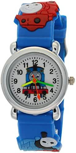 TimerMall Thomas Tank Engine Friends Children Stainless Steel Back Analogue Quartz Watches