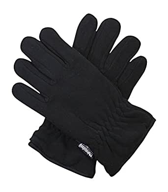 Black Thinsulate 3M 40g Thermal Fleece Winter Gloves for
