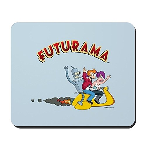 CafePress Futurama Hover Scooter Non-Slip Rubber Mousepad, Gaming Mouse Pad