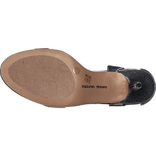 Sandali Da Caviglia Casual In Acciaio Con Cinturino Alla Caviglia E Punta Aperta