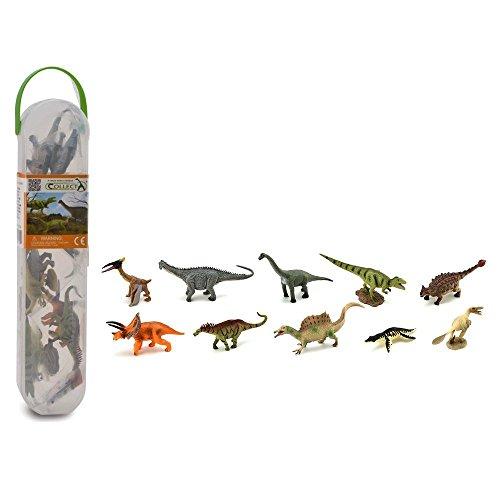 CollectA Box of Mini Dinosaurs 2 - Clear Plastic Tube Includes 10 Mini Dino Replicas
