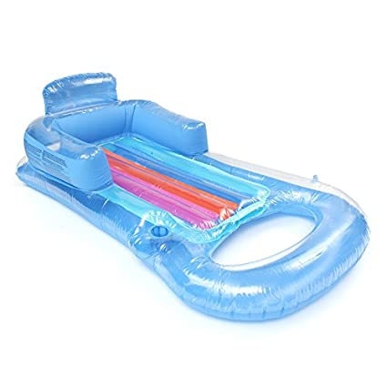 Home & Garden Transparent Inflatable Raft Pool Lounger