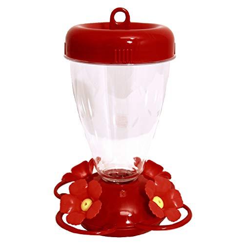 - Perky-Pet 137TF-2 16 oz Red Hibiscus Top Fill Plastic Hummingbird Feeder