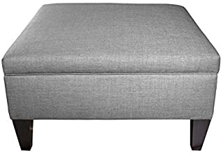product image for MJL Furniture Manhattan Collection Extra Large Lift Top Upholstered Storage and Organizational Ottoman, HJM Series in Gray