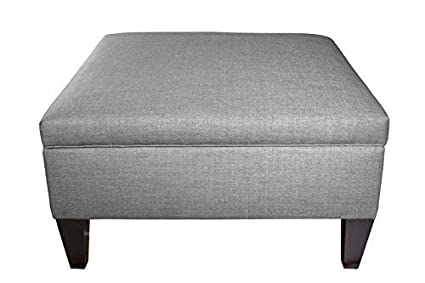 Awe Inspiring Mjl Furniture Manhattan Collection Extra Large Lift Top Upholstered Storage And Organizational Ottoman Hjm Series In Gray Ncnpc Chair Design For Home Ncnpcorg