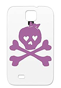 Little Captain Jackie Tedsthreads Co Teds Threads Symbols Shapes Pirate Girl Girly Skull Femenine Purple For Sumsang Galaxy S4 Cover Case