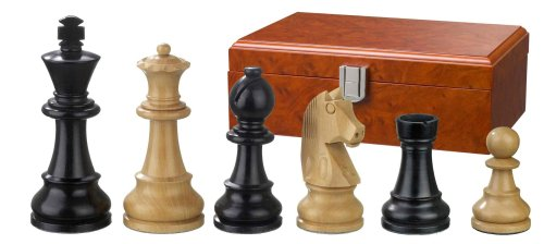 Phillos Boxwood Staunton Chess Pieces (3 1/2 inch King)
