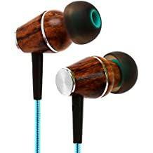 Symphonized XTC 2.0 Earbuds with Mic | Premium Genuine Wood Stereo Earphones | Hand-made In-ear Noise-isolating Headphones with Tangle-free Innovative Shield Technology Cable - Celestial Star