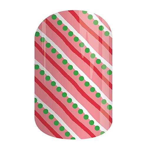 Christmas, Hanukkah & New Year Exclusives | Jamberry Nail Wraps | Nail Decal | Winter Seasonal Nail Art Stickers (Half Sheet - 1 manicure / 1 pedicure, Sugarplum) (Christmas Jamberry 2019)