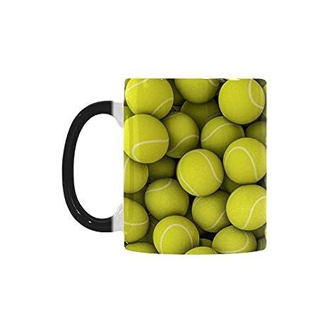 Amazon Com Cool Tennis Ball Color Changing Mug Morphing Coffee Mugs
