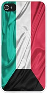 Rikki KnightTM Kuwait Flag Design iPhone 4 & 4s Case Cover (White Rubber with bumper protection) for Apple iPhone 4 & 4s