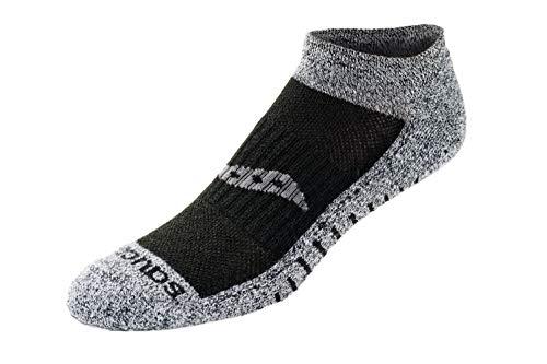 d4b9be9c Saucony Men's Multi Pack Mesh Ventilating Performance Comfort Fit No-Show  Socks, Black/White Assorted (6 Pack), Shoe Size: 8-12
