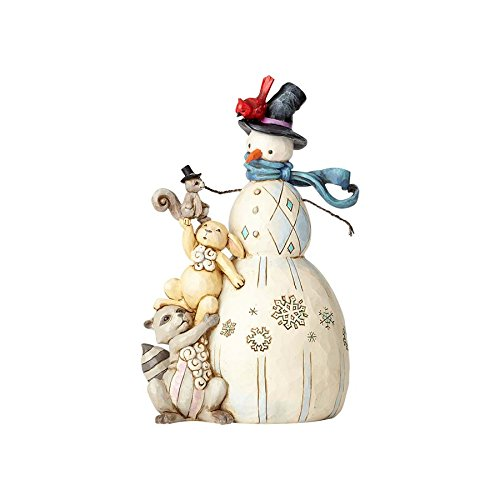 Enesco Jim Shore Hwc Fig Whimsical Snowman W (Animals Stacked)