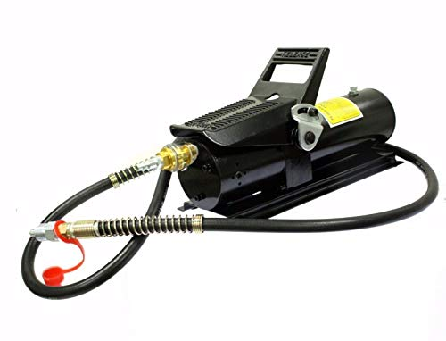 9TRADING 10 TON 10,000 PSI Porta Power AIR Hydraulic Foot Pump Control Lift with 6ft Hose