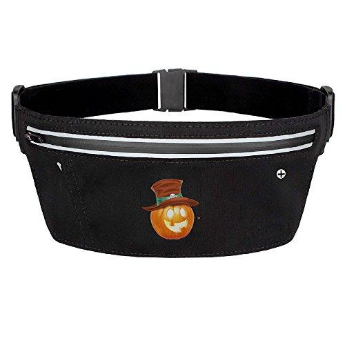 My Century Union Halloween Pumpkin Zipper Pockets Water Resistant Fanny Pack Running Belt Waist Bags Waist Pack For Running Hiking Cycling Climbing (Target Halloween 2017 Theme)