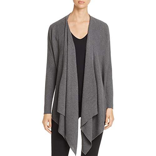 Eileen Fisher Petite Sweater - Eileen Fisher Womens Petites Wool Asymmetrical Cardigan Sweater Gray PP