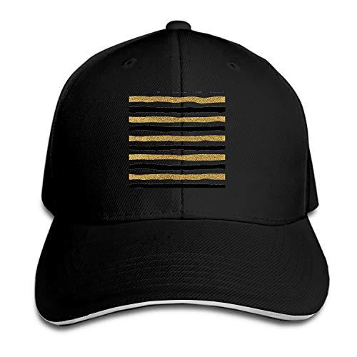 (Otkftk Unisex Gold Glitter Baseball Cap Dad Hat Peaked Flat Trucker Hats)