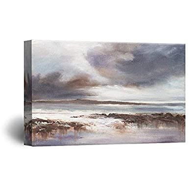 Dazzling Design, Oil Painting Style Abstract Seascape, Made With Top Quality
