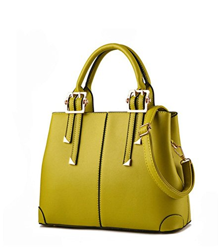 New qckj Fashion Cruz Cuerpo Bolsa De Hombro Mujeres Soild PU bolso verde