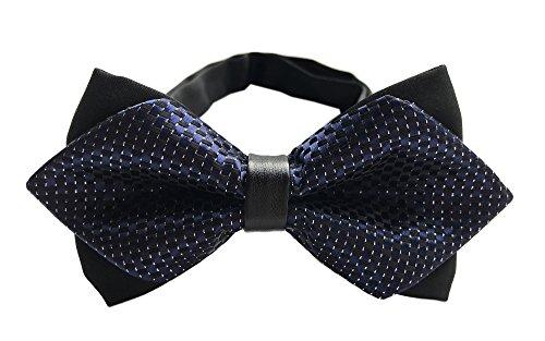 Big Boy's Men's Navy Blue Black Bow Ties Party Tuxedo Penguin Suit Formal ()