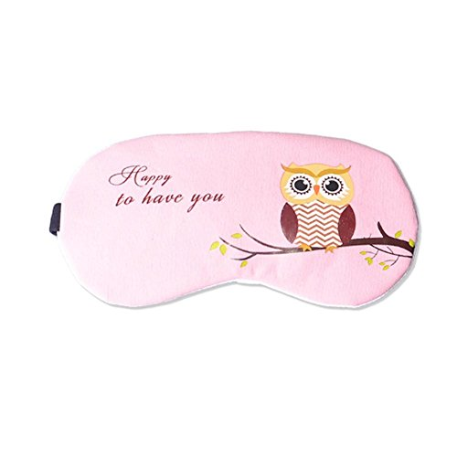 Writers Block Costume (ACTLATI Soft Cute Sleeping Eye Patch Cartoon Sleep Aid Cover Anime Owl Eye Mask Breathable Blindfold with Ear Plugs Pink)