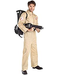 GTH Men's Deluxe Ghostbusters Proton Pack Theme Party Fancy Costume