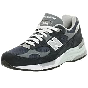 New Balance Men's M992 Running Shoe,Navy/Grey,10 D