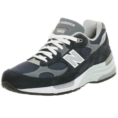 New Balance Men's M992 Running Shoe,NavyGrey,15 EEEE