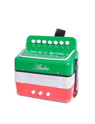 Abubu Kids Accordion, Toy Accordion, Musical Instrument for Children, Early Childhood Instrument (Mexican Flag)