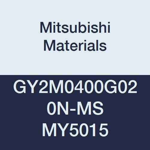 Pack of 10 Mitsubishi Materials GY2M0400G020N-MS MY5015 GY Series Carbide Grooving Insert for Multifunctional and Low Feeds 2 Teeth G Seat 0.008 Corner Radius 0.157 Grooving Width