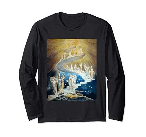 Jacob's Ladder by William Blake Long Sleeve T-Shirt