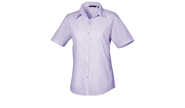Premier Workwear - Camisa - Mujer Morado Lila 42: Amazon.es: Ropa