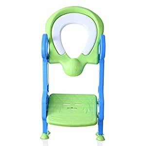 Cushioned Potty Ladder Training Seat, Children's toilet seat chair, Toddlers toilet training step stool by RIDGE STONE LLC