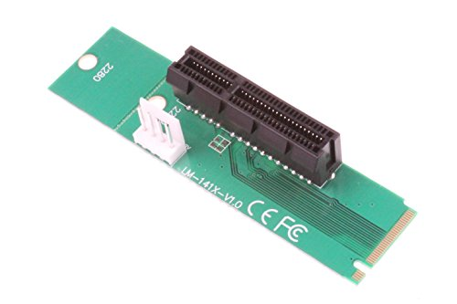 NGFF M.2 to PCI-E PCI Express 4x 1x Slot Riser Card Adapter M.2 Key-M Adapter Converter with 4 PIN Power Cable - 2Pack by NOYITO (Image #2)