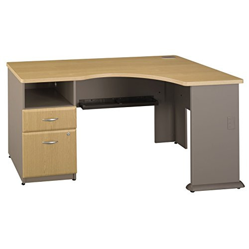 2 Drawer Oak Computer Desk (Bush Business Furniture Series A Single 2 Drawer Pedestal Corner Desk, Light)