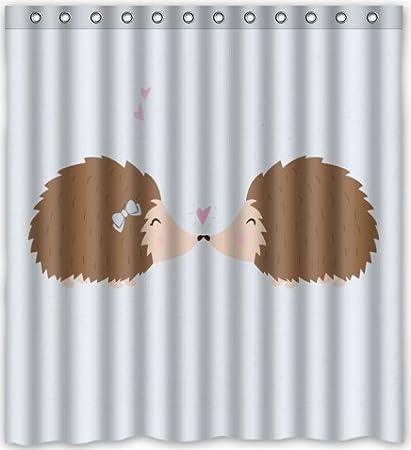Funny Design Hedgehog Shower Curtain 66quotw X 72quoth