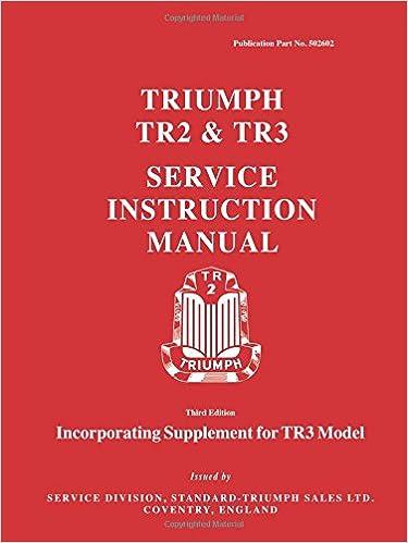Triumph tr2 tr3 service instruction manual tr3 model triumph tr2 tr3 service instruction manual tr3 model supplement official workshop manuals 3rd edition sciox Images