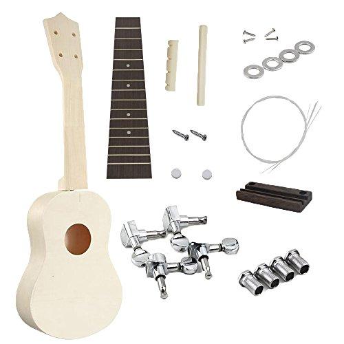 JYFY 21inch DIY Ukulele B Make Your Own Ukulele Soprano Hawaii Ukulele Kit With Musical Accessories