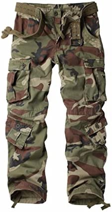MUST WAY Women's Cotton Casual Utility Cargo Pants with Multi Pockets