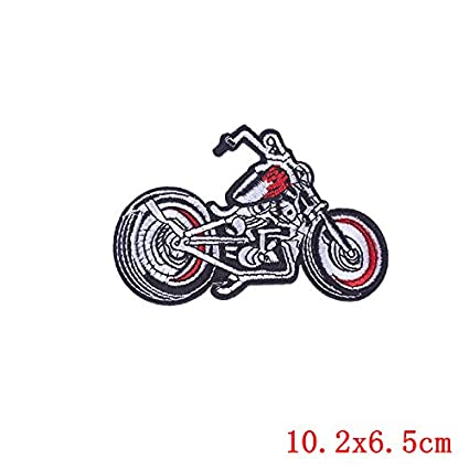 Light Blue Motorcycle Motocross Biker Embroidered Iron on Patch Free Postage