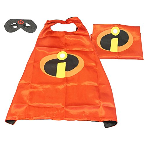 Cartoon Costume - Incredibles Logo Cape and Mask with Gift Box by Superheroes